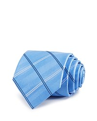 Burma Bibas Plaid Silk Classic Tie Compare At 49.50 Blue