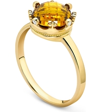 Theo Fennell 18Ct Yellow Gold And Citrine Coronet Ring