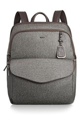 Tumi 'Sinclair Harlow' Coated Canvas Laptop Backpack Grey Earl Grey