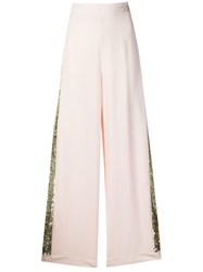 Temperley London Sycamore Sequinned Trousers Pink
