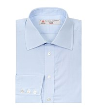 Turnbull And Asser Small Check Button Cuff Shirt Male