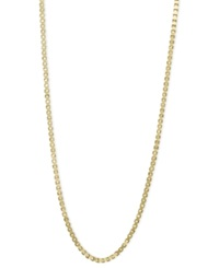 Macy's 14K Gold Necklace 20' Plain Box Chain