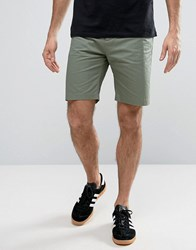 Penfield Yale Solid Chino Shorts Straight Tricolour Waist In Green Green