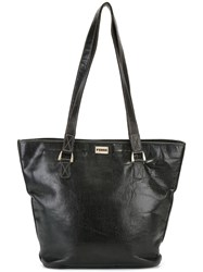 Gianfranco Ferre Vintage Classic Shopper Tote Black