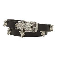 Gucci Black And Silver Buckle Bracelet