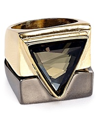Abs By Allen Schwartz Triangle Rings Set Of 2 Two Tone