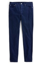 J.Crew High Rise Toothpick Corduroy Jeans Navy