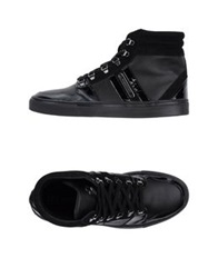 Les Hommes High Tops And Trainers Black