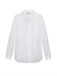 N 21 Embroidered Lightweight Cotton Shirt