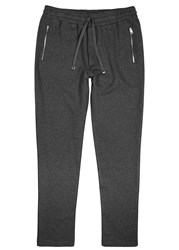Dolce And Gabbana Charcoal Cotton Jogging Trousers Dark Grey
