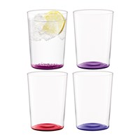 Lsa International Coro Assorted Tumblers Set Of 4 Berry Purple Clear