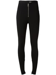 Versace Structured Wave Skinny Trousers Black