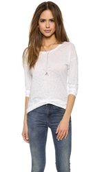 David Lerner Wedge Pullover White