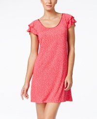 Alfani Flutter Sleeve Printed Nightgown Only At Macy's Fading Leaves