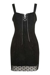 Topshop Lace Eyelet Dress By Finds Black