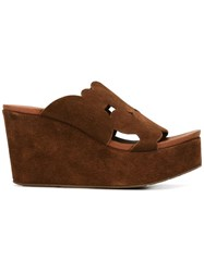 Pedro Garcia 'Dina' Sandals Brown