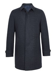 Paul Costelloe Men's Sumner Wool Rich Marl Overcoat Charcoal