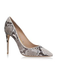 Salvatore Ferragamo Fiore Snakeskin Pumps 100 Female Beige