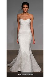 Anna Maier Couture Women's Alberta Strapless French Lace Trumpet Gown