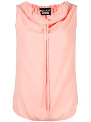 Boutique Moschino Drawstring Neck Tank Top Pink Purple