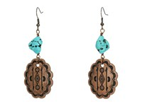 Kender West E 298 Copper Turquoise Earring Multi