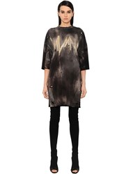 Balmain Destroyed Jersey T Shirt Dress