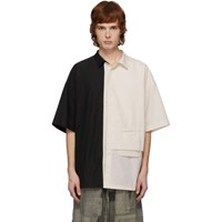 Ziggy Chen Black And Off White Combo Short Sleeve Shirt