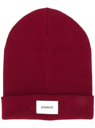 Dondup Knit Cap Red