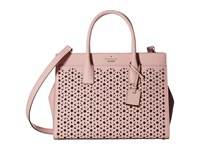 Kate Spade Cameron Street Perforated Candace Satchel Pink Sunset Handbags