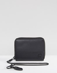 G Star Lador Leather Zip Wallet With Chain Black