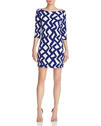 Leota Nouveau Sheath Dress Zig Zag Blue