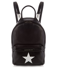 Givenchy Iconic Leather Mini Backpack Black White