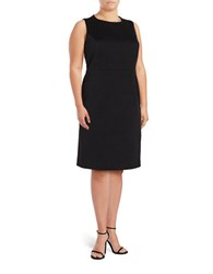 Nipon Boutique Plus Jacquard Sheath Dress Black