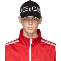 Dolce And Gabbana Black Patch Baseball Cap
