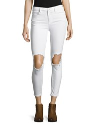 Free People Five Pocket Cropped Jeans White