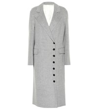 Joseph New Signe Wool And Cashmere Coat Grey