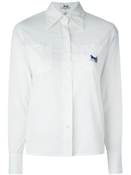 Celine Vintage Pointed Collar Shirt White