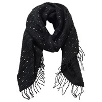 Betty And Co. Long Fringed Scarf Black
