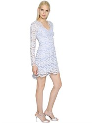 Blumarine Long Sleeve Tulle And Cotton Lace Dress