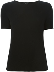 Theory Short Sleeve Knit Top Black