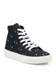 Kenzo Vulcano Eye Canvas High Top Sneakers