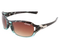 Tifosi Optics Dea Sl Blue Tortoise Brown Gradient Lens Athletic Performance Sport Sunglasses Black