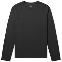 Save Khaki Long Sleeve Supima Tee Black
