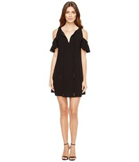Jessica Simpson Cold Shoulder Dress W Ties Black