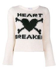 Red Valentino Heart Breaker Jumper Neutrals