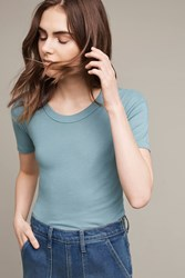 Anthropologie Ribbed Vintage Tee Turquoise
