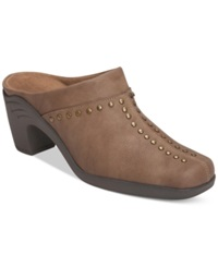 Aerosoles Apple Sawce Studded Mules Only At Macy's Women's Shoes Taupe Combo