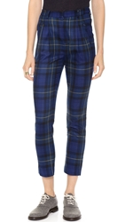 Band Of Outsiders Pleat Front Slim Pants Cobalt Blue