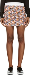 Roseanna Pink Floral Print Ruched Side Mini Skirt