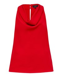 Ted Baker Areio Cowl Neck Top Red